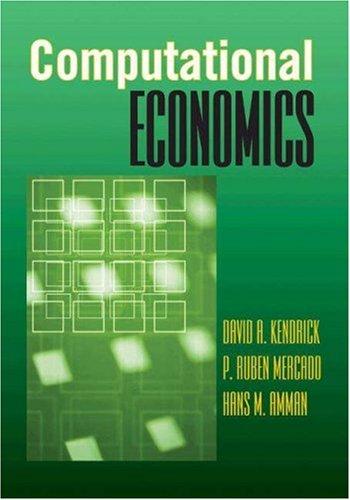 Computational Economics 9780691125497