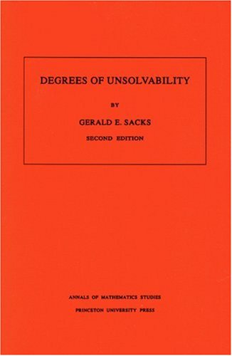 Degrees of Unsolvability 9780691079417