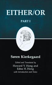 Kierkegaard's Writings, III, Part I: Either/Or. Part I 2544916