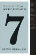 Seven Rules for Social Research 9780691135670