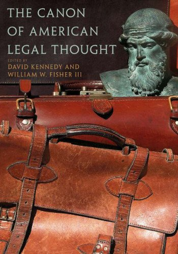 The Canon of American Legal Thought 9780691120003