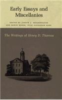 The Writings of Henry David Thoreau: Early Essays and Miscellanies. - Thoreau, Henry David / Moser, Edwin / Moldenhauer, Joseph J.