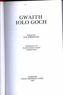 Gwaith Iolo Goch 9780708309872