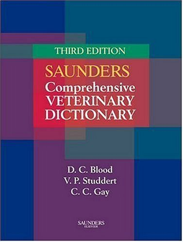 Saunders Comprehensive Veterinary Dictionary 9780702027888