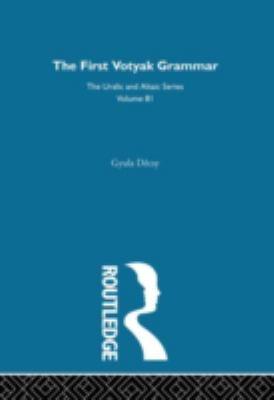 The First Votyak Grammar 9780700708819