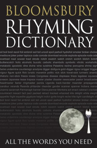Bloomsbury Rhyming Dictionary: All the Words You Need 9780713681925