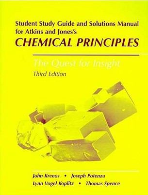 Chemical Principles Student's Study Guide & Solutions Manual 9780716707400