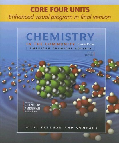 Chemistry in the Community: Cour Four Units 9780716772934