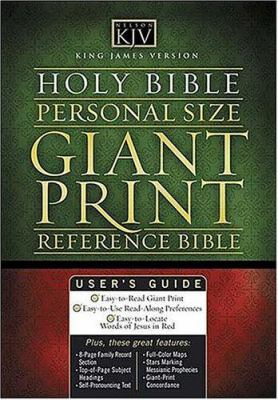 Personal Size Giant Print Reference Bible-KJV 9780718009540