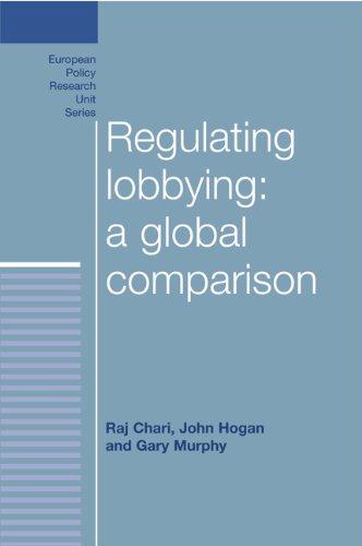 Regulating Lobbying: A Global Comparison 9780719079375