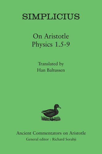 Simplicius: On Aristotle Physics 1.5-9 9780715638576