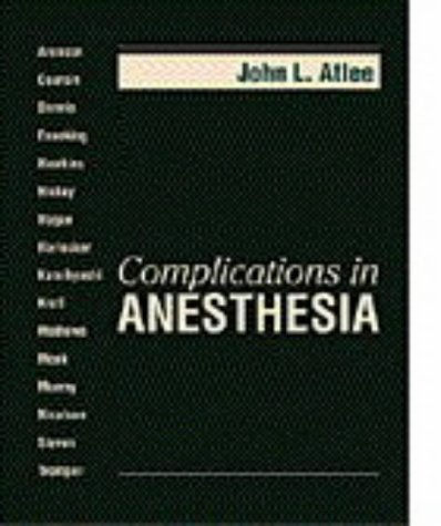 Complications in Anesthesia 9780721671611