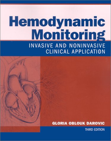 Hemodynamic Monitoring: Invasive and Noninvasive Clinical Application 9780721692937