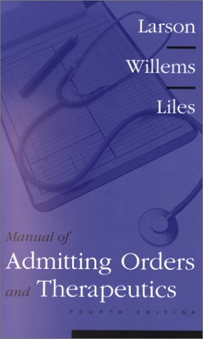 Manual of Admitting Orders and Therapeutics 9780721687421