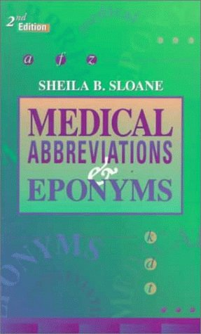 Medical Abbreviations and Eponyms 9780721670881