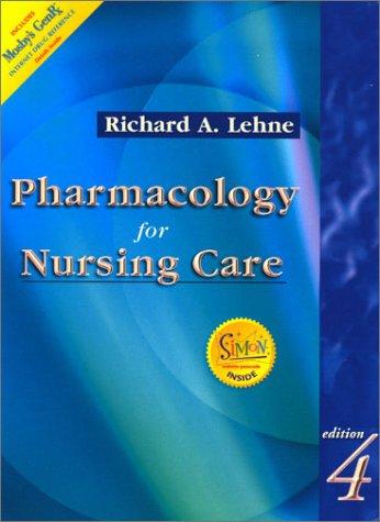 Pharmacology for Nursing Care 9780721689975
