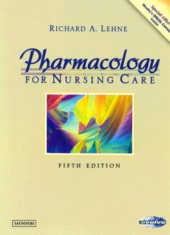 Pharmacology for Nursing Care 9780721698434