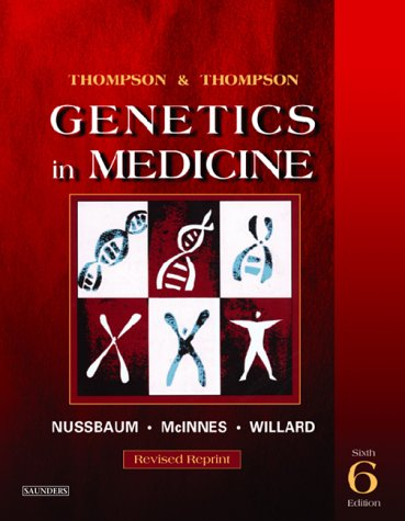 Thompson & Thompson Genetics in Medicine 9780721602448