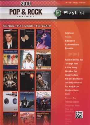 2010 Pop & Rock Sheet Music Playlist: Songs That Made the Year! 9780739075821