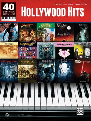 40 Sheet Music Bestsellers -- Hollywood Hits: Piano Solos & Piano/Vocal/Guitar 9780739084748