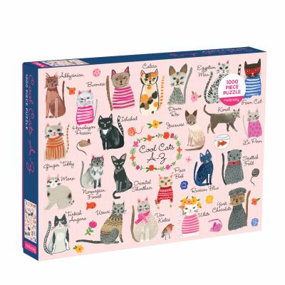 Mudpuppy Cool Cats A-Z Puzzle, 1,000 Pieces, 27x20  Perfect for Ages 8-99+ - Great Family Puzzle to Celebrate Cats  Colorful Illustrations of 23 Cat B