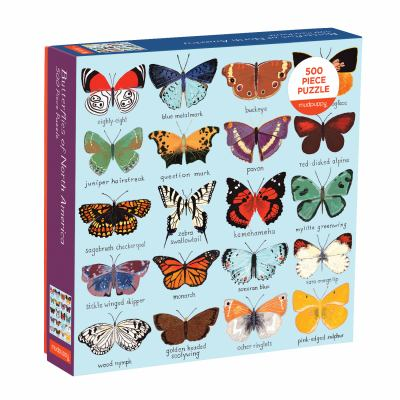 Mudpuppy Butterflies of North America 500 Piece Family Jigsaw Puzzle, Butterfly Puzzle with Recognizable Butterflies from Around North America