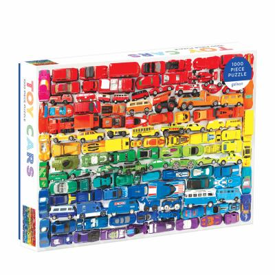 Galison 1000 Piece Rainbow Toy Cars Jigsaw Puzzle for Families and Adults, Finished Puzzle is a Unique Rainbow Image, Photo Art Puzzle Includes Varyin