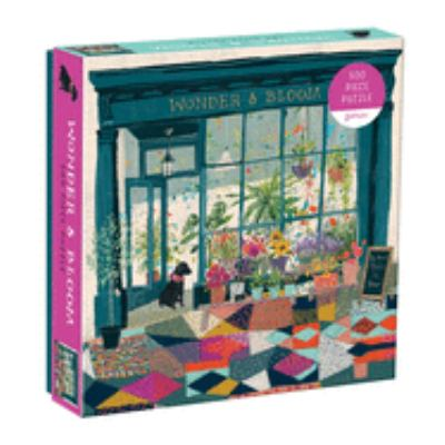 Galison Wonder & Bloom Puzzle, 500 Pieces, 20x20  Brightly Colored Scene of a Welcoming Local Plant Shop  Challenging, Perfect for Family Fun