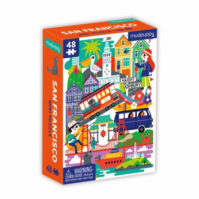 Mudpuppy San Francisco Mini Puzzle, 48 Pieces, 8 x 5.75  Perfect Family Puzzle for Ages 4+  Features a Colorful Illustration of Iconic San Francisco L