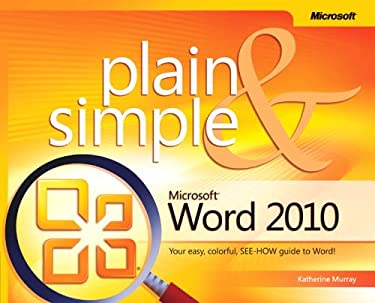 Microsoft Word 2010 Plain & Simple 9780735627314