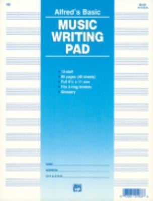 12 Stave Music Writing Pad: Loose Pages (3-Hole Punched for Ring Binders) 9780739014615