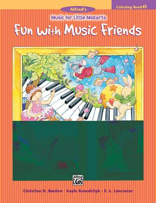 Music for Little Mozarts Coloring Book, Bk 1: Fun with Music Friends 9780739017395