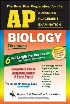 AP Biology (Rea) 7th Edition - The Best Test Prep for the AP Exam 9780738600543