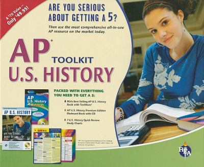 AP U.S. History Toolkit [With 7 U.S. History Study Charts and Flashcard Book with CD and AP U.S. History] 9780738605326