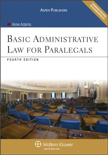 Basic Administrative Law for Paralegals [With CDROM] 9780735577732