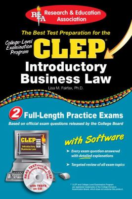 CLEP Introductory Business Law W/ CD-ROM [With CDROM] 9780738603162