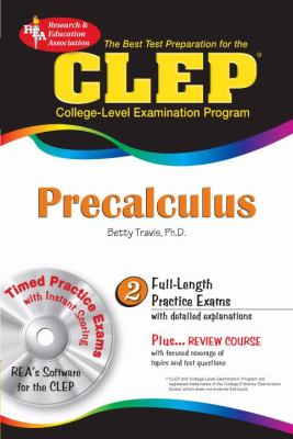 CLEP Precalculus [With CDROM] 9780738601755