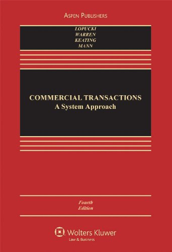 Commercial Transactions: A Systems Approach 9780735576438