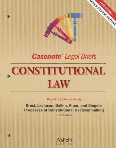 Constitutional Law 9780735552142