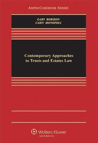 Contemporary Approaches to Trusts and Estates Law 9780735589278