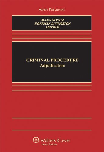 Criminal Procedure: Adjudication 9780735590250