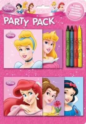Disney Princess Party Pack [With Sticker(s) and Crayons and 5 Mini Coloring Books] 9780736426022