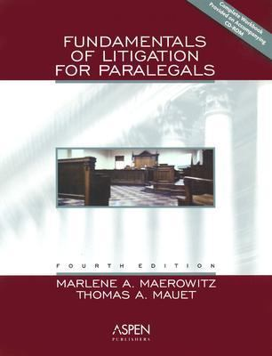 Fundamentals of Litigation for Paralegals, Fourth Edition 9780735529175