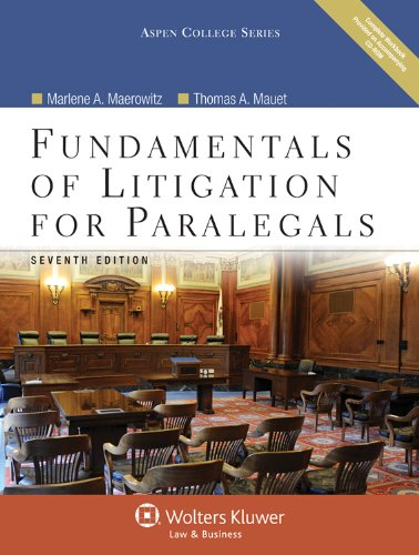 Fundamentals of Litigation for Paralegals, Seventh Edition 9780735598690