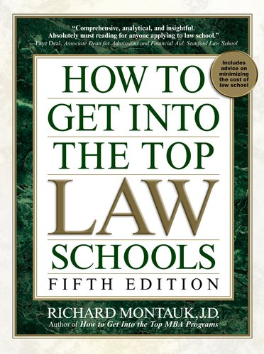 How to Get Into the Top Law Schools 9780735204577