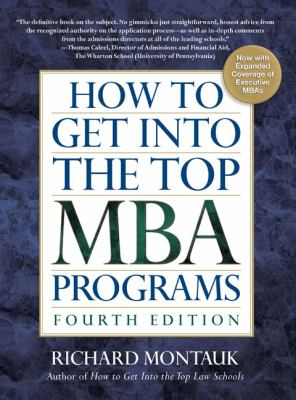 How to Get Into the Top MBA Programs 9780735204232