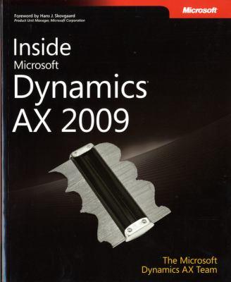 Inside Microsoft Dynamics AX 2009 9780735626454