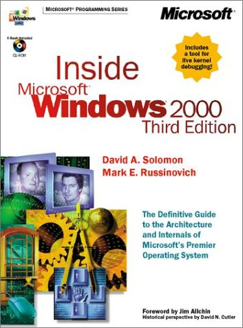 Inside Microsoft Windows 2000, Third Edition [With CDROM] 9780735610217