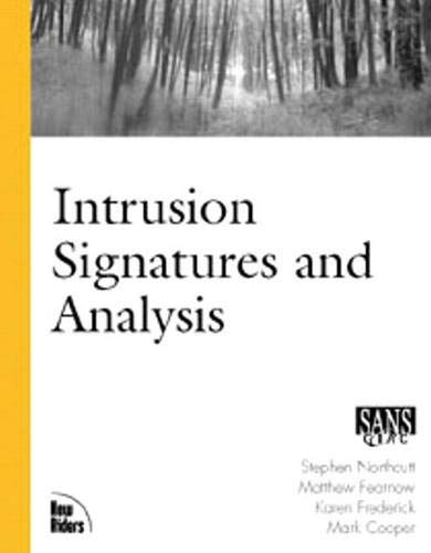 Intrusion Signatures and Analysis 9780735710634