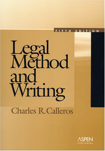 Legal Method and Writing 9780735553750